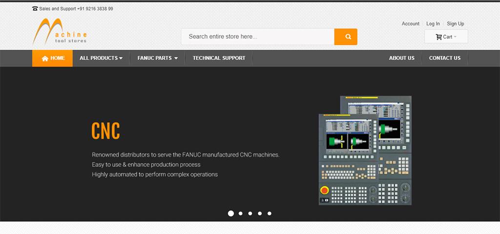 Machine tool Store – PHP Framework