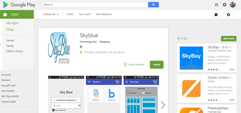 Skyblue – Android